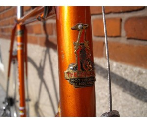 Solgt: Orange Raleigh Le Champion str. 58