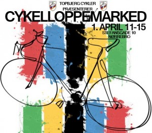 Cykelloppemarked i Stefansgade 1. april 2013
